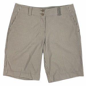 Nike Golf Dry Fit Khaki Houndstooth Print Shorts